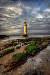 NEW BRIGHTON LIGHTHOUSE (PERCH ROCK), NEW BRIGHTON, MERSEYSIDE, ENGLAND. (ZACERIN) Tags: brighton new nikon brighton river photography rock sea hdr nikon image irish lighthouse lighthouse hdr england liverpool mersey rock seaside d800 d800 lancashire merseyside perch perch eddystone eddystone