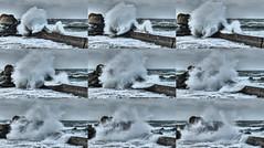 Digue de Porsguen (y.caradec) Tags: winter sea mer storm france beach brittany europe waves hiver wave bretagne vague vagues plage manche 2012 bzh tempte finistre digue plouescat 12272012 porsguen 271212 122712 grossesvagues fz200 27122012 dmcfz200 diguedeporsguen