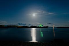 Moon light (SYU*2) Tags: morning blue winter light moon nature beautiful japan night photography nikon scenery  d800 2470mm 2470 nikoor