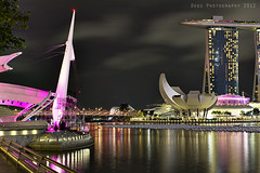 Marina Bay, Singapore (Dodz Photography) Tags: bridge building marina hotel bay singapore places structure esplanade rafflesplace concerthall marinabay uob esplanadeconcerthall singaporesciencecenter helixbridge thefullertonhotel dodzphotography