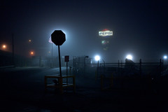 (patrickjoust) Tags: city light urban usa white streets sign fog night digital america 35mm canon dark lens eos us reflex md flag united low north foggy illumination patrick maryland baltimore full stop american single frame handheld 5d after balance pepsi states tungsten stm 40mm dslr joust f28 hampden ef sensor estados unidos patrickjoust
