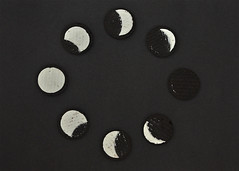 Phases of moon  [Explored] (Bhaskar Dutta) Tags: new moon india project fun idea eclipse calendar cream crescent full biscuit cycle lunar gibbous waxing phases waning 2013