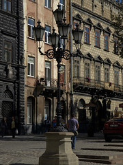Rynok Square lights (spylaw01) Tags: summer square lights sunny lviv ukraine rynok