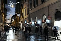Via della Madonna in Pistoia (Massimo Luca Carradori) Tags: light night lights shadows madonna ombre tuscany nights luci toscana natale notte luce 2012 citt notturno pistoia massimocarradori carradorimassimo