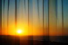 #850E3096 - Behind the curtains (crimsonbelt) Tags: sunset beach nature dubai curtains behind jumera