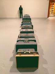 Zoe Leonard, Blue Suitcases (1961) (mlee525) Tags: blue art la losangeles moca littletokyo 1961 suitcases iphone themuseumofcontemporaryart geffencontemporary zoeleonard thingsorganizedneatly bluesuitcases vscocam uploaded:by=flickrmobile flickriosapp:filter=nofilter bluesinsmoke
