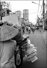 . (Out to Lunch) Tags: woman vietnam cart recycling saigon earthasia