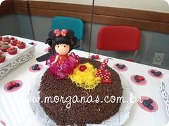 Topinho de bolo Menina Minnie (Andria Morganas) Tags: mickey biscuit minnie festa aniversrio lembrancinhas