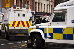 Union Flag protests, Belfast (jeremypix) Tags: city uk ireland jack hall riot iron flag union protest police rover belfast images flags east marks ms land norn getty council spencer loyalist northern troubles gettyimages norniron disruption unionism psni loyalism flegs