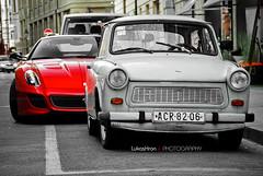 Ferrari 599 GTO + Trabant 601 Limousine (Lukas Hron Photography) Tags: ferrari gto limousine trabant 601 599