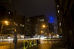 DKL @ NYC (Athalfred DKL) Tags: new york city nyc light ny lightpainting luz night painting children long exposure nocturnal tag lp nocturna flashlight calligraphy cod tagging nueva con pintar darklight larga morse caligrafa exposicin lightcalligraphy lightgraff dkl