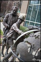 Wrapping the world (FirehawkNS) Tags: statue nc charlotte northcarolina att bellsouth phonecompany