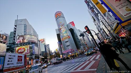 Shibuya en hiver