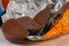 Day 362 - Choccies (Ben936) Tags: food candy chocolate foil celebration sweets treat confectionary choccy terryschocolateorange