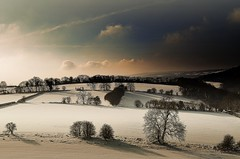 Gloucestershire (Eric Goncalves) Tags: blue trees winter snow cold color nature beautiful clouds landscape shadows gloucestershire nikond7000 rememberthatmomentlevel1 rememberthatmomentlevel2