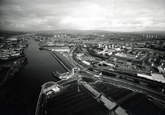 Image titled Aerial View Glasgow Looking West 1990s