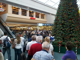 Massive Security Line At Orlando Airport