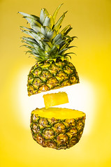 Pineapple Express (simon.anderson) Tags: colour yellow fruit gold golden pineapple pineappleexpress goldenlight snoot nikonsb600 offcameraflash strobist simonanderson nikon1685 jessops360afd nikond300s yongnuorf602