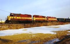WC 723-587-724 (PaulVBox) Tags: railroad wisconsin train central wc coal hopper railfan 724 723 wisconsincentral emd wcl neenah coaltrain 587 sdl39 gp35