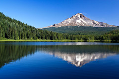 Trillium Lake and Mt Hood (JC Loves U) Tags: mountain lake reflection oregon mthood hood trilliumlake