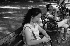 See what women do... (Xu@EVIL Cameras) Tags: street bw white black berlin 35mm voss f28 exakta piesker
