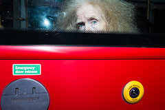 (whitey_hendrix) Tags: london fuji x100s streetphotography eyes bus flash