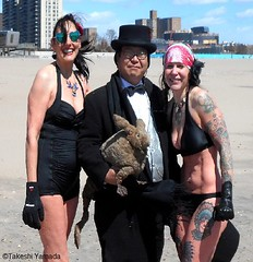 Dr. Takeshi Yamada and Seara (Coney Island Sea Rabbit) visited the Coney Island Polar Bear Club at the Coney Island Beach in Brooklyn, New York on April 3 (Sun), 2016. mermaid. merman.  20160403Sun DSCN4911=4040-3027C3. Mj Moscowitz. Laura Simon (searabbits23) Tags: searabbit seara takeshiyamada  taxidermy roguetaxidermy mart strange cryptozoology uma ufo esp curiosities oddities globalwarming climategate dragon mermaid unicorn art artist alchemy entertainer performer famous sexy playboy bikini fashion vogue goth gothic vampire steampunk barrackobama billclinton billgates sideshow freakshow star king pop god angel celebrity genius amc immortalized tv immortalizer japanese asian mardigras tophat google yahoo bing aol cnn coneyisland brooklyn newyork leonardodavinci damienhirst jeffkoons takashimurakami vangogh pablopicasso salvadordali waltdisney donaldtrump hillaryclinton polarbearclub