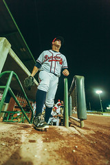 Mississippi Braves pitcher AJ Minter taking the stage help the M-Braves clench the Southern League North Divisional Title (Tate Nations) Tags: ajminter mississippi braves pitcher baseball dugout wide angle southern league minor
