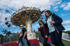 (jaumescar) Tags: people outdoor festival music walking wheel carrousel park amusement fun drink beer phone group bst london summer british time hyde sky color
