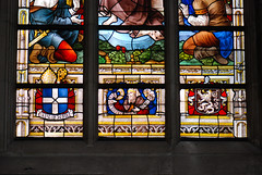 Coats of arms in Ghent (quinet) Tags: 2014 belgium ghent glasmalerei wappen blason coatofarms stainedglass vitrail antwerp flanders