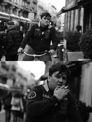 [La Mia Citt][Pedala] fumando (Urca) Tags: milano italia 2016 bicicletta pedalare ciclista ritrattostradale portrait dittico bike biycle nikondigitale mir bianoenero blackandwhite bn bw 88970 fumando