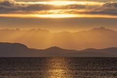 Qualicum Sunrise (ScarletBlack) Tags: qualicum qualicumfirstnationscampground sunrise sunrays qualicumbay
