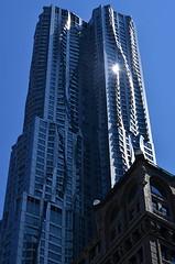 Sunspot (pjpink) Tags: architecture frankgehry gehry skyscraper building undulating manhattan nyc newyork newyorkcity ny urban city june 2016 summer pjpink sunspot