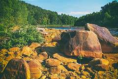 Cheat River I (Fresh Perspective with a Twist) Tags: west virginia cheat river water rock green boulder