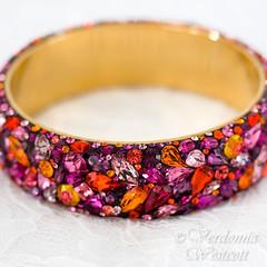 Magdalena -close up- By Verdonna Westcott (Verdonna.com) Tags: httpwwwverdonnacom verdonna westcott pinks purples pink purple bracelet bangle romantic feminine sparkling bling rhinestones