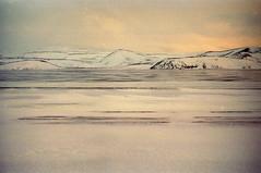 alors l (asketoner) Tags: landscape snow mountain lagoon iceland jokulsarlon glacier sky evening winter colors golden traces