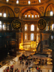 Hagia Sophie, Istanbul (creditflats) Tags: istanbul turkey hagiasophia byzantine olympus pen ep1 church dome chandelier museum mosque basilica