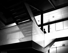 around the corner (Ren Mollet) Tags: zuiko zug street streetphotography shadow silhouette station bahnhof treppe streetphotographie stairs archidektur woman renmollet blackandwhite bw schwarzweiss schatten olympus penf
