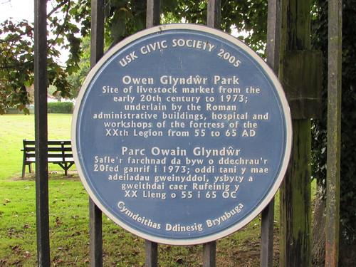 Usk: Owen Glyndur Park (Monmouthshire)