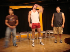 ChicosHo 008 (danimaniacs) Tags: man sexy hot hunk alexkaesejones chicosangels peterrison red shorts tanktop bulge