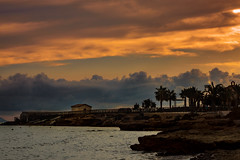 Otoo en Isla Plana (saparmo) Tags: nubles mar ocaso murcia mediterrneo isla plana sunset clouds water sun mediterranean