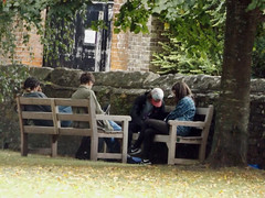 Salisbury Cathedral grounds 2016 (Sweet Mango 1965) Tags: salisbury cathedral 2016 wiltshire candid teenagers chatting group