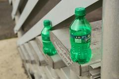 Green Bottles (cooper.gary) Tags: green bottles steps sprite plastic soda bleachers recycle kuper kuperimages gtkuper