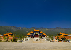 Chongsheng Temple, Dali, Yunnan Province, China (Eric Lafforgue) Tags: china travel vacation sky people color colour history horizontal mystery architecture temple person photography pagoda ancient asia day outdoor religion buddhism tourist copyspace ornate yunnan dali majestic groupofpeople thepast buildingfront traditionalculture eastasia placeofworship chineseculture realpeople colorimage chineselanguage buildingexterior colorpicture placeofinterest yunnanprovince traveldestination colourimage builtstructure chongshengtemple traditionallychinese groupofpersons a0007213