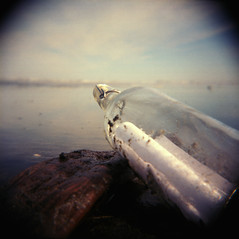 Bottled Up (J.Sod) Tags: ocean film coast washington nationalpark holga bottle pacific kodak toycamera 120format olympicpeninsula 120film pacificocean 100 olympic washingtonstate olympicnationalpark holga120 100asa kalaloch ektar messageinabottle kodakektar ektar100 cl250