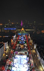 Brussels Christmas Market (garycollins2) Tags: christmas brussels portrait sky ice wheel night landscape lights nikon cityscape place market skating grand ferris chalets 2012 grote d5000