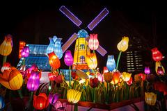China Light Rotterdam 2012, The Netherlands (Dennis Burger) Tags: china light windmill rotterdam thenetherlands tulip 2012 zuidholland hetpark