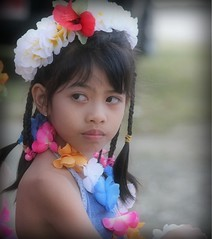 young dancer (ontheraks (attempting to be resurrected here...)) Tags: flowers girls girl children islands photos dancer leis braid saipan childrenphotography culturaldancers mwarmwar childrenimages