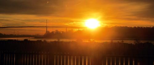 Erskine Bridge sunrise from Bowling