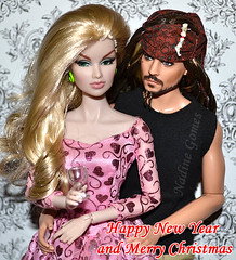Happy New Year (Nadine Gomes) Tags: fashion set jack toys doll pirates jet class collection business sparrow convention caribbean royalty mattel anja integrity 2011